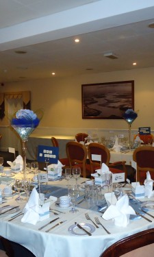 Table arrangements at Beggar's Reach Hotel