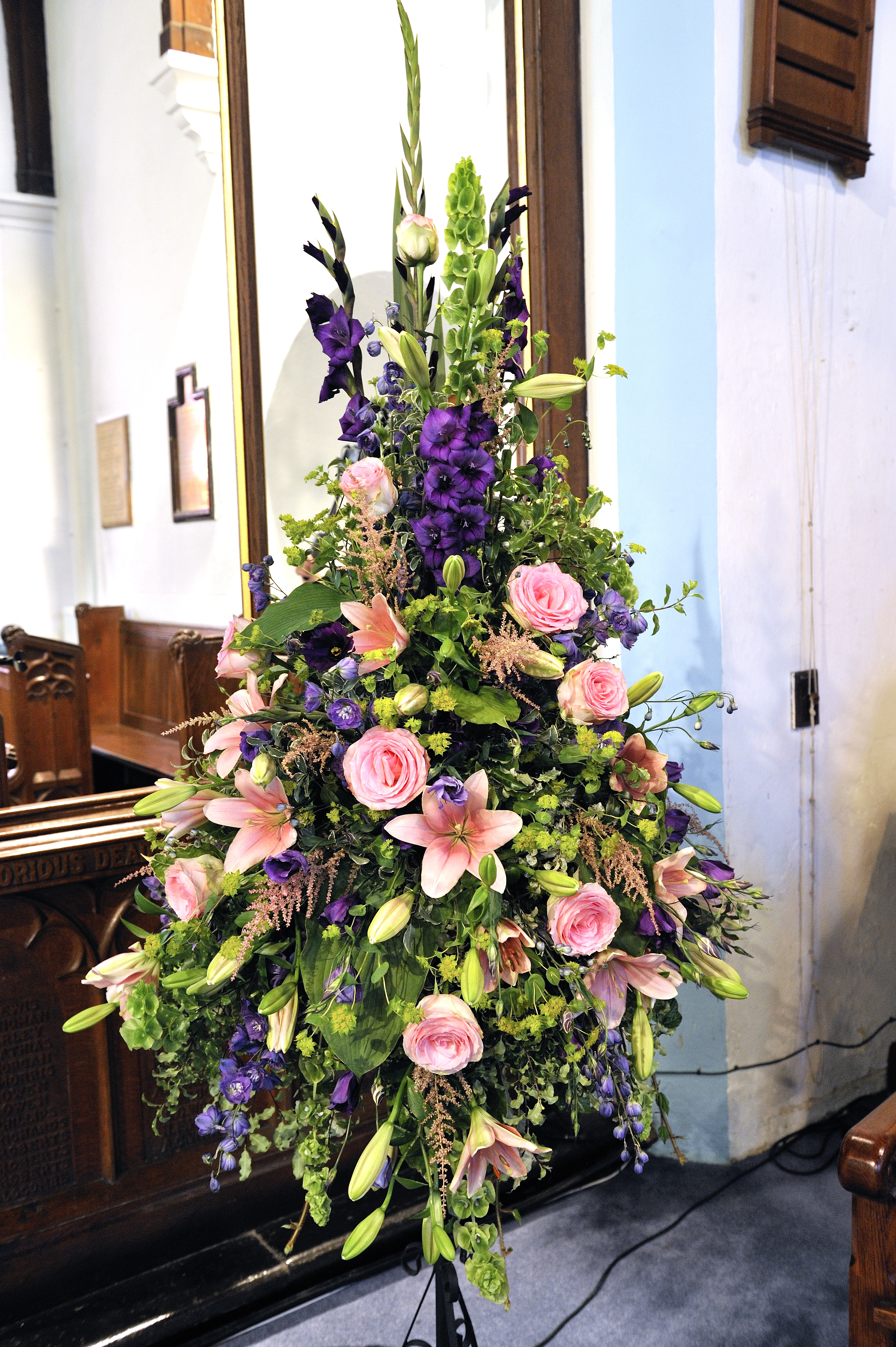 Church or chapel wedding flowers A Way With Flowers