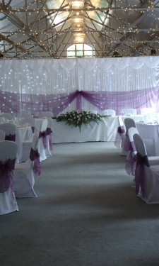 Table and top table arrangements at Crug Glas